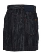 Vivienne Westwood Anglomania Anglomania Wood Effect Denim Skirt - BLUE WOOD PRINT