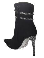 René Caovilla Crystal Embellished Boots - Black