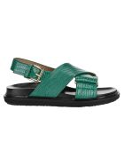 Marni Fussbett Sandals - GREEN