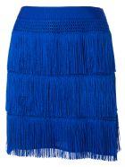 Alberta Ferretti Fringe Mini Skirt - Blu elettrico