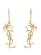 Saint Laurent Palmier Earrings - Or laiton