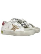 Golden Goose Old School Leather Sneaker - WHITE / GOLD