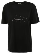 Saint Laurent Stars And Logo Print T-shirt - Black/silver
