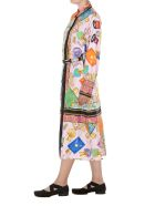 Versace Logo Silk Dress - Multicolor