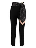 Elisabetta Franchi Celyn B. High-waist Crêpe Trousers - black