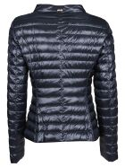 Herno High Neck Padded Jacket - Blu