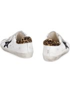 Golden Goose Old School Leather And Suede Sneakers - White