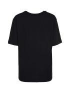 Love Moschino Logo Print Cotton T-shirt - black