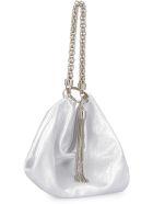 Jimmy Choo Callie Metallic Leather Clutch - silver