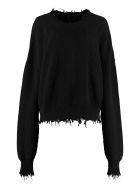 Ben Taverniti Unravel Project Crew-neck Cotton-cashmere Pullover - black