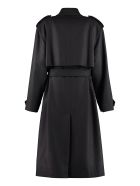 Saint Laurent Double-breasted Wool And Cashmere Coat - black