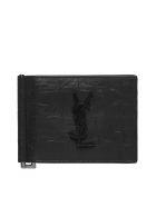 Saint Laurent Monogram Bill Clip Wallet - Nero