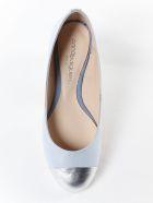 Anna Baiguera Logo Detail Ballerinas - Silver Natur Cielo