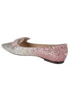 Jimmy Choo Gala Ballerinas - Platinum/flamingo