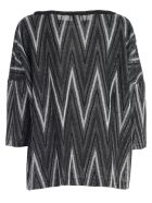 M Missoni Sweater 3/4s A Line Lurex - H Nero Argento