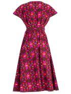 Aspesi Abstract Print Dress - Fdo Fucsia
