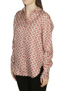 Burberry Two-toned Logo Shirt - VERMILLION RED