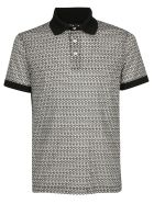 Salvatore Ferragamo Polo Shirt - Off white/black