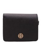 Tory Burch 'robinson' Leather Wallet - Black