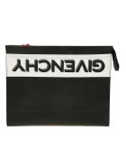 Givenchy Gusset Clutch - Black/white