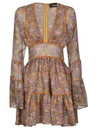 Dsquared2 All-over Printed Lace Dress - Multicolor