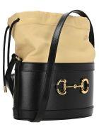 Gucci Gucci 1955 Horsebit Bucket Bag - BLACK + BEIGE