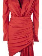 Alexandre Vauthier Red Silk-blend Dress - Rosso