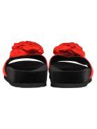 Miu Miu Miu Miu Rose Applique Slides - RED - BLACK