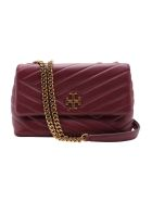 Tory Burch 'kira' Leather Shoulder Bag - Imperial Garnet