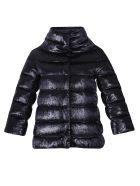 Herno Lurex And Velvet Padded Jacket - Black