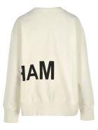 MM6 Maison Margiela Mm6 Oversize Logo Print Sweatshirt - OFF WHITE