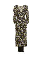 Magda Butrym Floral Print Dress - Nero multicolor