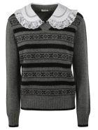 Miu Miu Knitted Sweater - Ardesia