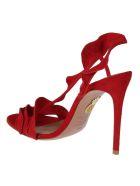 Aquazzura Ruffle Sandals - Lipstick