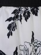 Antonio Marras Pants Flare Elastic W/flowers - Bianco Nero