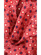 Gucci Hearts And Gg Print Foulard - Red