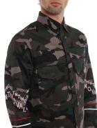 Valentino Logo Print Camouflage Jacket - Basic