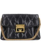 Givenchy Gv3 Small Quilted Leather Shoulder Bag - black