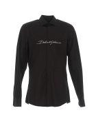 Dolce & Gabbana Tuxedo Martini Shirt - Black