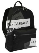 Dolce & Gabbana Logo Tape Backpack - Nero/mult. reflctive