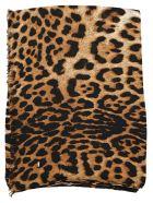 Saint Laurent Leopard Print Scarf - BIEGE BLACK LEO