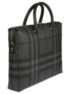 Burberry Manchester Briefcase - Charcoal/black