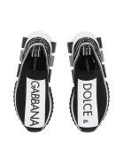 Dolce & Gabbana Running Knit Sneakers - NERO BIANCO|Nero
