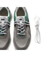Diadora Heritage Grey & Green Nylon & Suede Sneakers - Gray/green