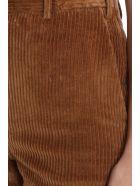 Neil Barrett Pants In Brown Velvet - brown