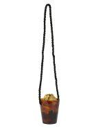 Montunas Lirio Bucket Bag - Gold satin/black