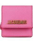 Jacquemus Logo Charm Leather Bracelet - Pink
