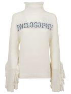 Philosophy di Lorenzo Serafini Sweater - Fantasy Print White