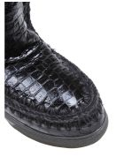Mou Black Leather Eskimo Sneakers - Black
