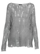 Avant Toi Openworked Sweater - MARMO